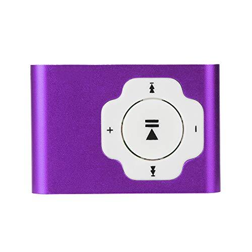 Colorful MP3 Player, Mini-tragbarer USB-MP3-Player Unterstützt die Micro SD TF-Karte 32 GB Sport Musik Media (Lila) (Lila-mp3-player 32 Gb)
