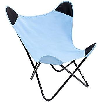 Stylischer Sessel BUTTERFLY grau Designklassiker mit Eisengestell ...
