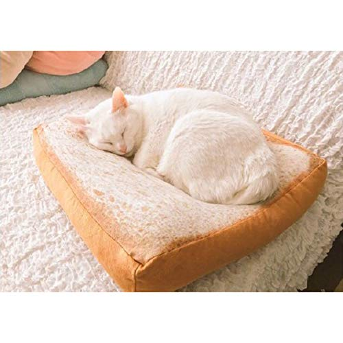 Pink day Pet Mat DREI Größe Toast Brot Kissen Katze Schlafmatte Plüsch Spielzeug Kissen Kissen by (größe : M 60CM) (Spielzeug M 60)