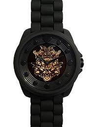 Wize & Ope BIG-1 - Reloj analógico de cuarzo unisex con correa de plástico, color negro