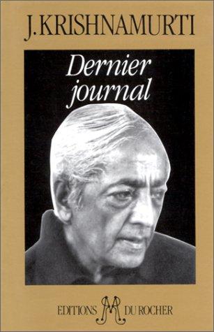 Dernier journal par Jiddu Krishnamurti