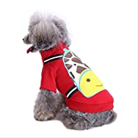 AHJSN Pet Clothing Supplies Dog Autumn Sweater Section Four Feet Winter Sports Section L [4-5Kg] Qz169 Red