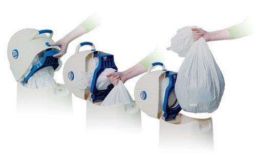 Geruchsdichter Windeleimer Diaper Champ medium blau – für normale Müllbeutel - 3