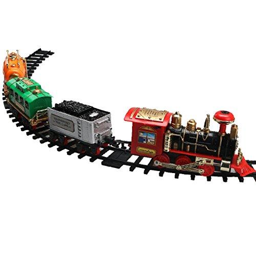 Sharplace Lebensecht elektrische Eisenbahn Spur Zug mit Ton Und Rauch Kinder Spielzeug