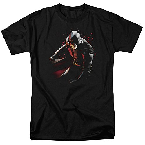 Trevco Men's Dark Knight Rises Ready to Punch Short Sleeve Adult T-Shirt, Black, Small
