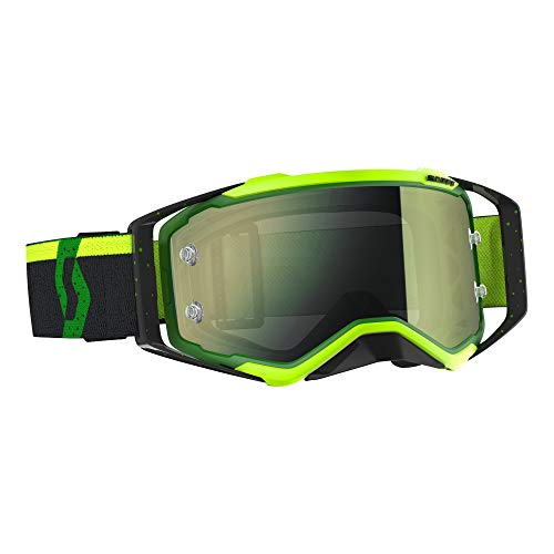 Scott Prospect MX Goggle Cross/MTB Brille grün/gelb chrome works