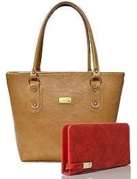 EDGEKART Premium PU Leather Women's And Girl's Handbag And Wallet Clutch Combo_ET03