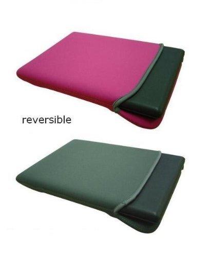 Stoßdämpfende, wasserfeste Schutzhülle/Tasche von GAGS, Neopren, pink & grau wendbar, für alle 10-Zoll-, 10,1-Zoll-, 10,2-Zoll-, 10,3-Zoll-Netbooks, -Webbooks, -Laptops und -Mini-Notebooks