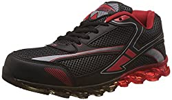 Steemo Men's Black and Red Running Shoes - 7 UK/India (41 EU)(STM1024)
