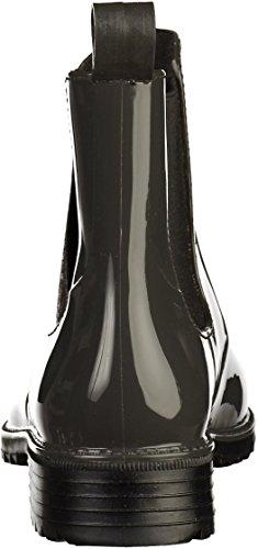 Rieker P8162, Stivali di Gomma Donna Grigio (Fumo/schwarz/grigio)