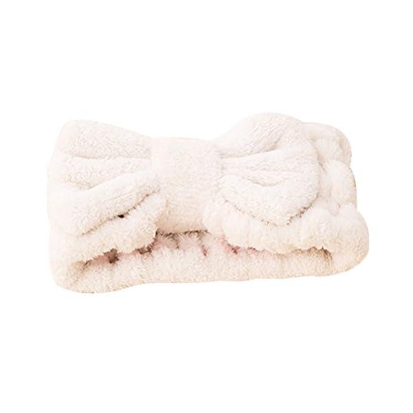 FRCOLOR - Fascia per capelli da donna elastica per il trucco del viso, trattamenti cosmetici e doccia, 3 pezzi 3 spesavip