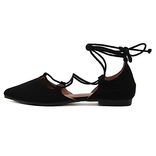 FLYRCX Primavera e autunno bendaggio di prua appuntita bocca poco profonda ladies scarpe scarpe di partito a