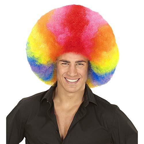 Amakando Extravagante Peluca Cabeza de arbusto XXL para Adulto / De Colores llamativos / Peluca Arcoiris Estilo Afro Cabello Rizado / Memorable para carnavales y Festivales
