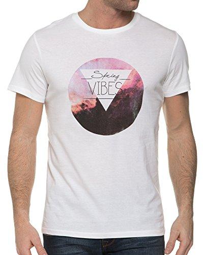 Casual Friday - Weißes T-Shirt mit Siebdruck Neck Weiß