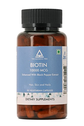 The Blessing Tree Biotin 10,000mcg Enhanced Absorption with Black Pepper...