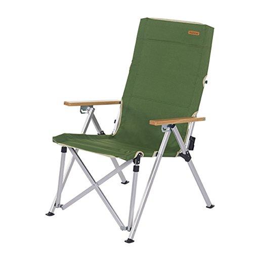 HM&DX Portable Chaises pliantes exterieures Chaises de camping pliantes Dossier réglable Lumière Chaise de plage pliante Heavy duty Pour Jardin camping pêche randonnée picnic -vert
