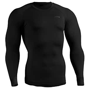emFraa Homme Femme Sport Compression thermal Base layer Shirt manches longues XS