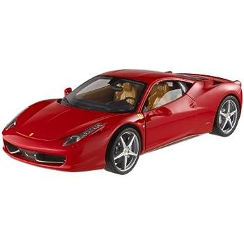 Hotwheels (Mattel) - T6917 - Véhicule Miniature -  Ferrari 458 Italia  - Rouge  -   Echelle 1/18
