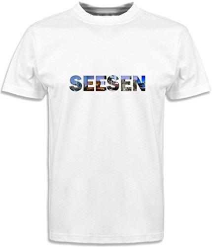 T-Shirt mit Städtenamen Seesen Weiß