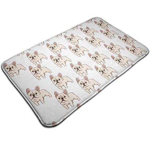 rutschfeste saugfähige Badematte - Teppich für französische Bulldogge für Wohnkultur/Küche/Eingang/Innen/Außen/Wohnzimmer (Küche-teppich Französische)