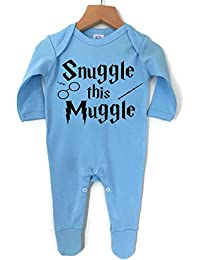 1aa8c3113 'Snuggle this Muggle' Baby Boy Girl Made in England 100% cotton Vests  Babygrow · '