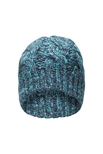 Mountain Warehouse 023.366 ELLIE LINED WOMENS BEANIE Verde-blu (Knit Womens Beanie)
