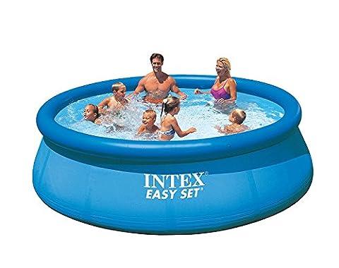 Intex Easy Set Pool Set, blau, 366 x 366 x 76 cm, 5,62 L, 28132GN