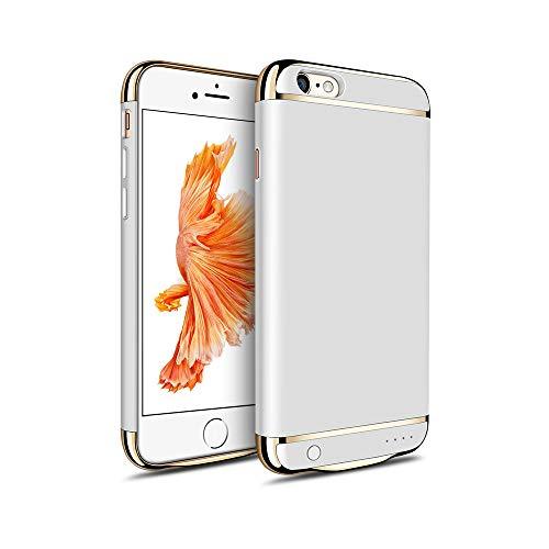 MYGIRLE Batterie-Kasten 2500 / 3500mAh Fall Charging für iPhone 6 / iPhone 6s 4,7/5,5-Zoll-Energien-Bank-Ladegerät-Fall Wiederaufladbare Juice Pack,Silver,i6/6splus[3500mah]