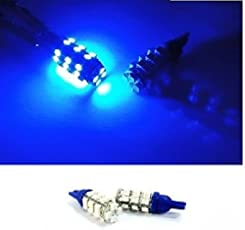 EASY4BUY 2 PCS X 28 SMD LED Blue T10 Socket for All Bike CAR Parking Indicator Bulb Light