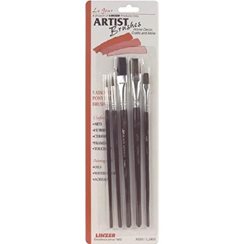 Linzer 5 Piece Touch Up Brush Set Professional Grade Camel Hair Flat All Paints 1/2 by Northern Tool & Equipment