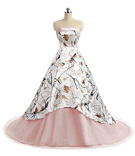 APXPF Damen Camo Gedruckt Brautkleid Tüll Ballkleid Prom Partei Abendkleider 18 Plus Erröten