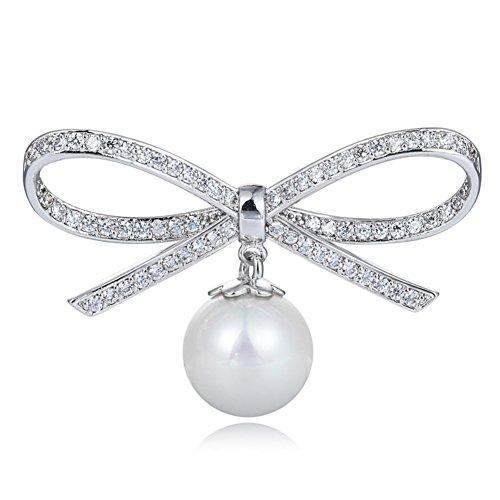 Crystal Pearl Spilla farfalla/ cena spilla/ sciarpa fibbie-A