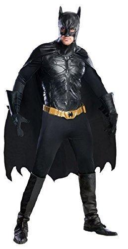 Fancy Me Herren offiziell DC Comics Profi-Qualität Batman Superheld Cosplay Halloween Kostüm Kleid Outfit - Schwarz, Small (Batman Kostüme Stiefel)
