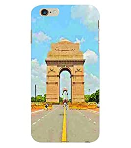 Fuson 3D Printed India Gate Designer Back Case Cover for Apple iPhone 6 Plus - D670