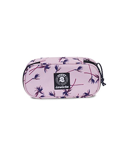 Portapenne invicta - lip pencil bag xl - pink paradise - porta penne scomparto interno attrezzato
