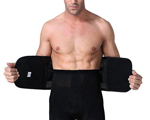 Uomo body contenitivi corsetto per pancia lombare per dimagrire bustini modellanti nero m