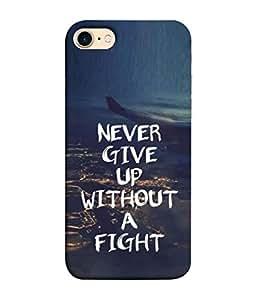 PrintVisa Designer Back Case Cover for Apple iPhone 7 (Flight Airplane Chalk Caption Sign Design)