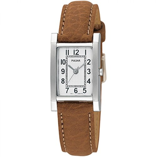 Pulsar Womens' Stainless Steel Tan Leather Strap PC3163X1
