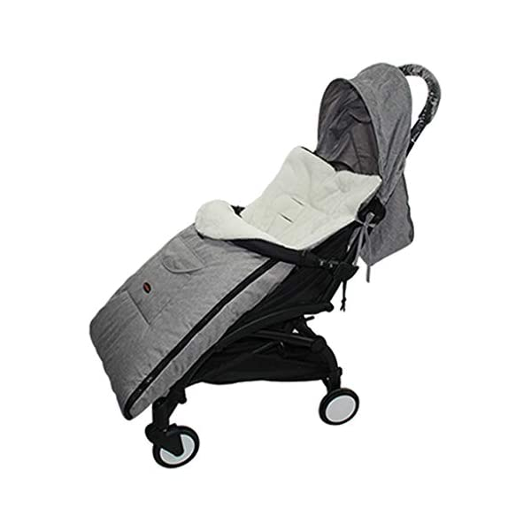 DENGHENG Baby Sleeping Bag Infant Winter Stroller Thick Warm Envelope Sleepsacks Footmuff DENGHENG ❤ Stroller Sleep Bag, Softly padded with warm fleece lining and extra quilting. ❤ 2 in 1 - Removable front unzips, easily converting to a comfy Seat liner ❤ Can Also be used as a Padded Pushchair or Buggy Liner- ideal for the summer months 8