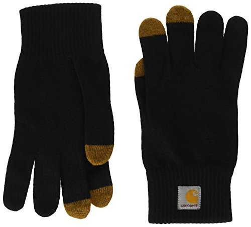 Carhartt Unisex Touch Screen Gloves Fäustlinge, Schwarz (BLACK/HAMILTON BROWN), Herstellergröße: XL -