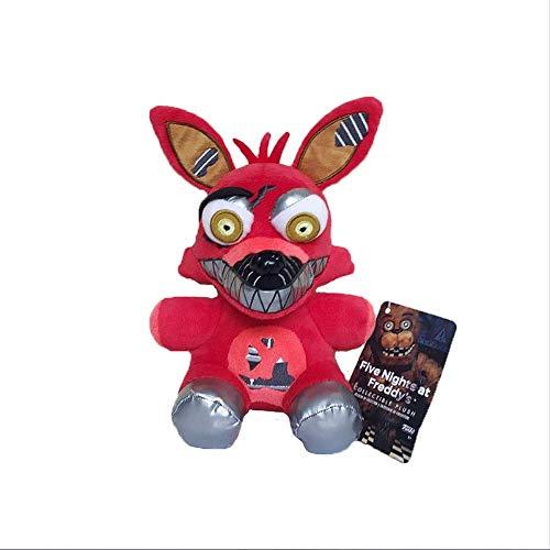 Kinder Bei Freddy's 5 Kostüm Nächte - Troutyop Plüschtiere 20Cm, fünf Nächte bei Freddy's Nightmare Foxy Fox Plüschtiere, Puppengeschenke für Kinder