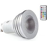 Lampadina GU10a LED RGB, funzione di memoria che cambia colore con telecomando