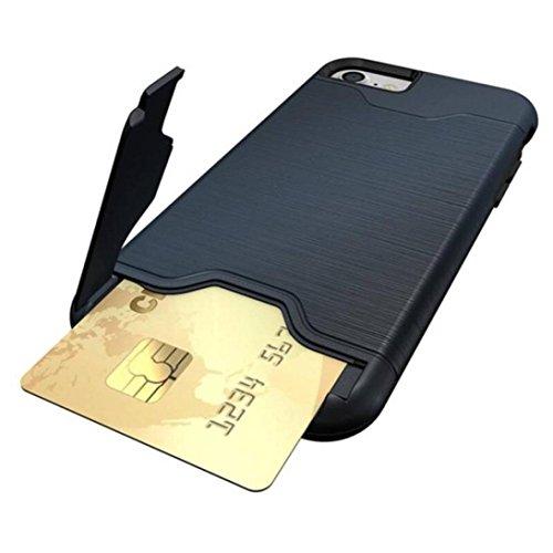 Hkfv Superb creative design iPhone case Amazing causale stile carta cavalletto custodia cover custodia per iPhone 811,9cm iPhone 8Plus 14cm iPhone 8 plus Dark Blue