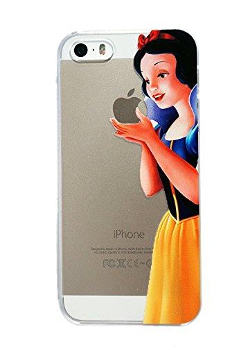 Disney-Custodia per Apple iPhone, colore: trasparente con SufsTM Accessory, Small Stitch, iPhone 5/5S biancaneve