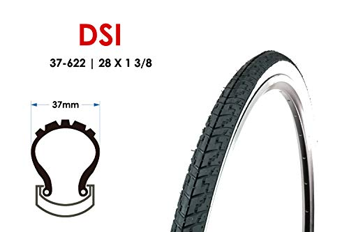 28 Zoll Fahrrad Reifen 37-622 Trekking City Bike Mantel 28×1 3/8 Weisswand Tire B-Ware