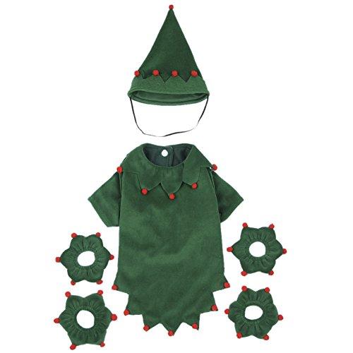 uppy Funny Christmas Kleidung Cute Kostüme Anzug mit Einem Hat (Geist Halloween Hund Kostüme)