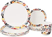 Amazon Brand - Solimo Melamine Dinnerware Set (18 pieces)