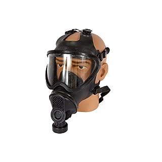 Armeeware Gr.L Belgische Gasmaske schwarz ohne Filter gebraucht Schutzmaske ABC-Ausrüstung