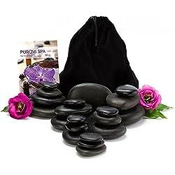 Set Profesional de Piedras Calientes para Masaje | 20 Piedras de Basalto natural |