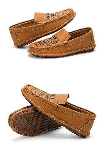 ICEGREY Herren Mokassin Leder Loafers Fahren Freizeitschuhe Bootsschuhe Braun